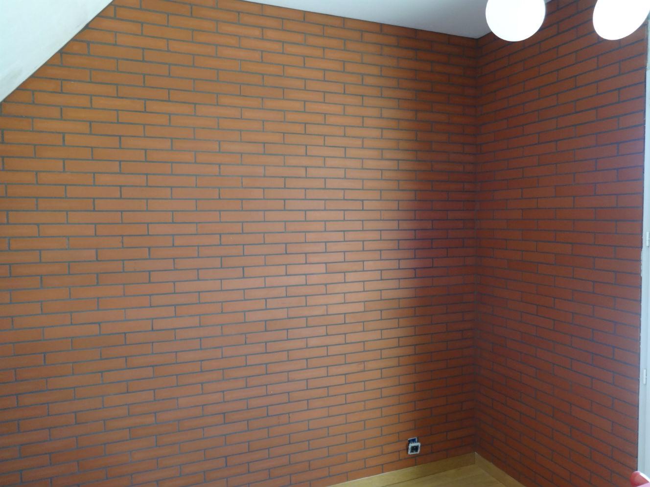 Alba carrelage photos briquettes de parement et carreaux - Mur briquette rouge ...
