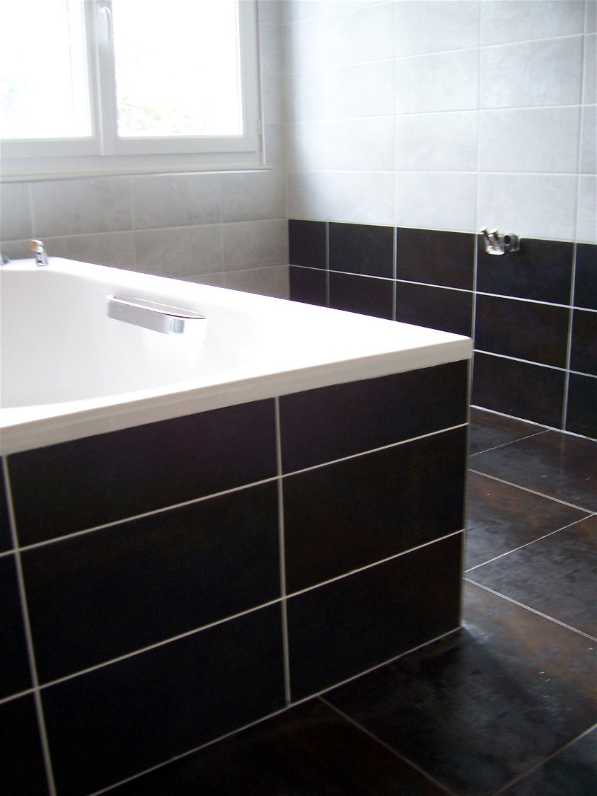 Alba carrelage artisan carreleur guipavas brest photo for Carrelage clipsable salle de bain
